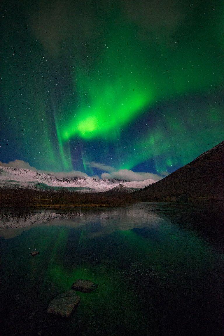 Aurora borealis, Кольский, Малый вудъявр, Север, Северное сияние, Хибины, Роман Горячий