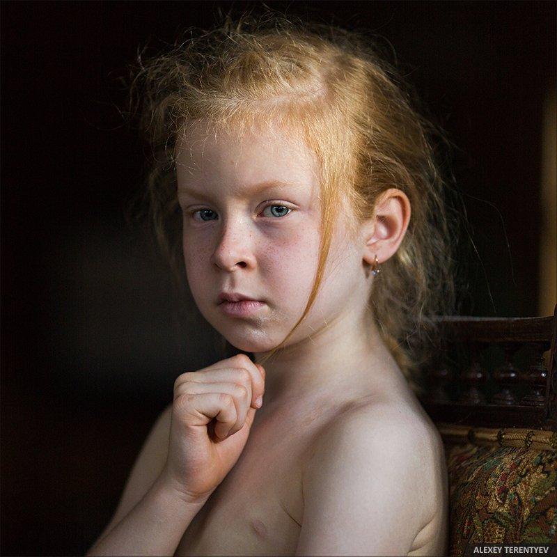 девочка, портрет, Алексей Терентьев