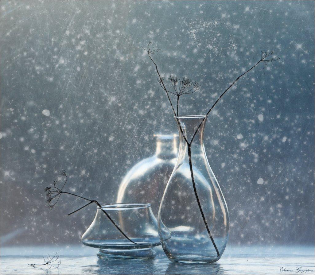 Зима, Метель, Натюрморт, Снег, Стекло, Eleonora Grigorjeva