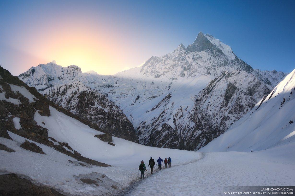 непал, аннапурна, гималаи, горы, путешествия, треккинг, снег, природа, рассвет,, Антон Янковой (www.photo-travel.com)