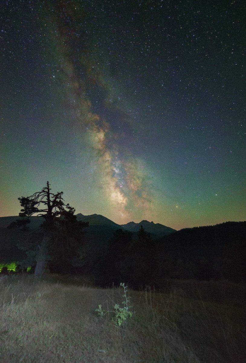 Млечный путь, Архыз, горы, август, Борис Богданов