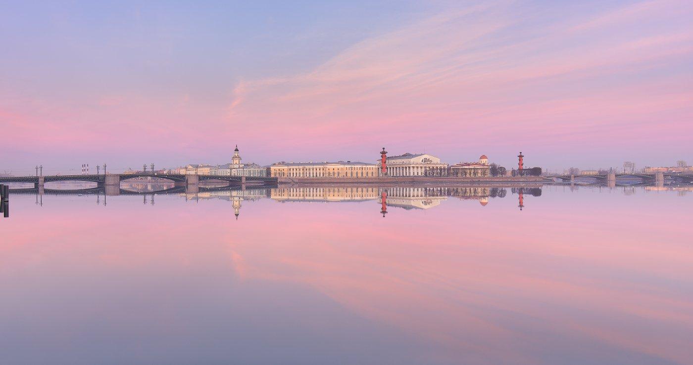 Весна, Дворцовый мост, Нева, Река, Санкт петербург, Стрелка в.о., Утро, Sergey Louks