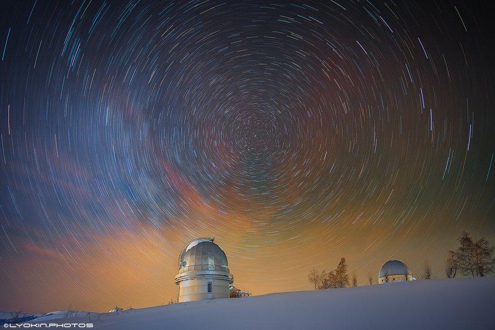 Азербайджан, Звезды, Небо, Обсерватория, Треки, Lyokin