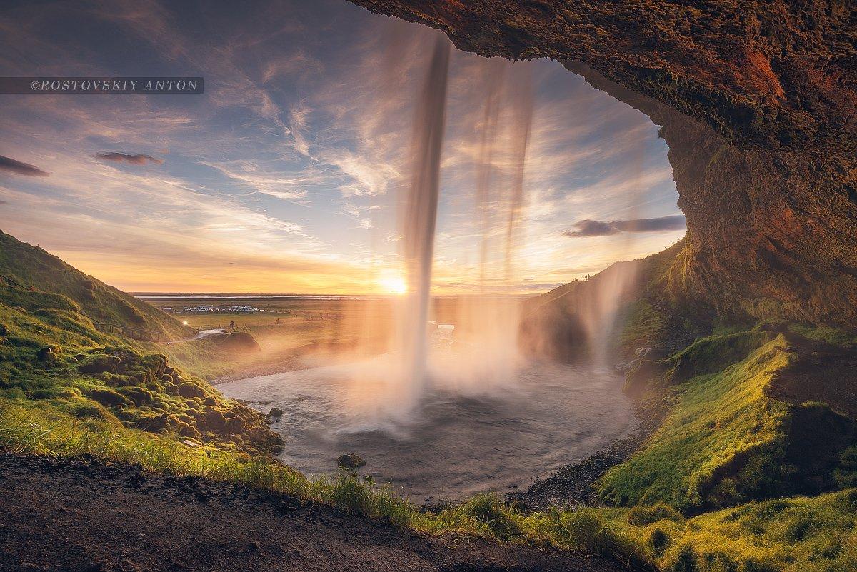 исландия, фототур, закат, водопад, сейлалендфосс,, Антон Ростовский