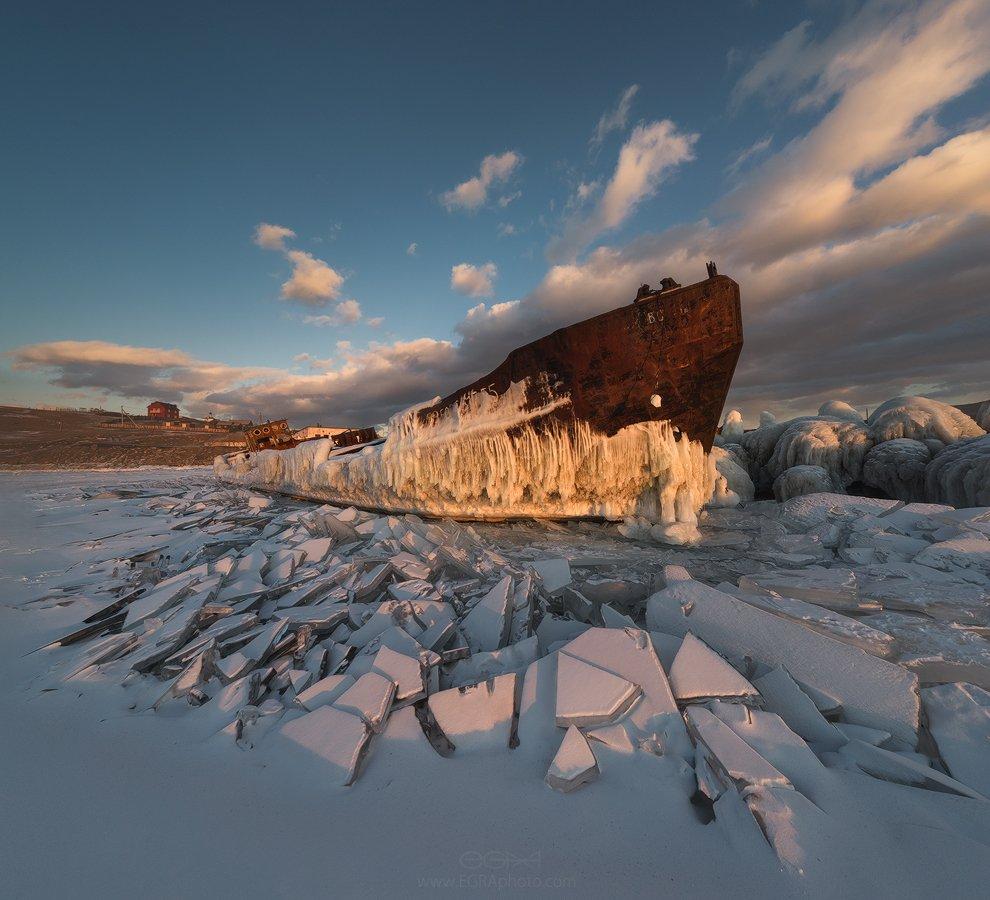 baikal, siberia, байкал, сибирь, лед, ice, корабль, ship, olkhon, ольхон, EGRA