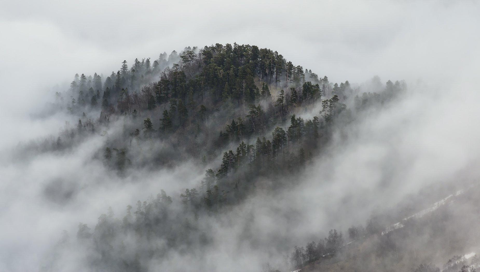 май, 2016, туман, хребет, передовой, вечер, вершина, асбестной, ФЁДОР