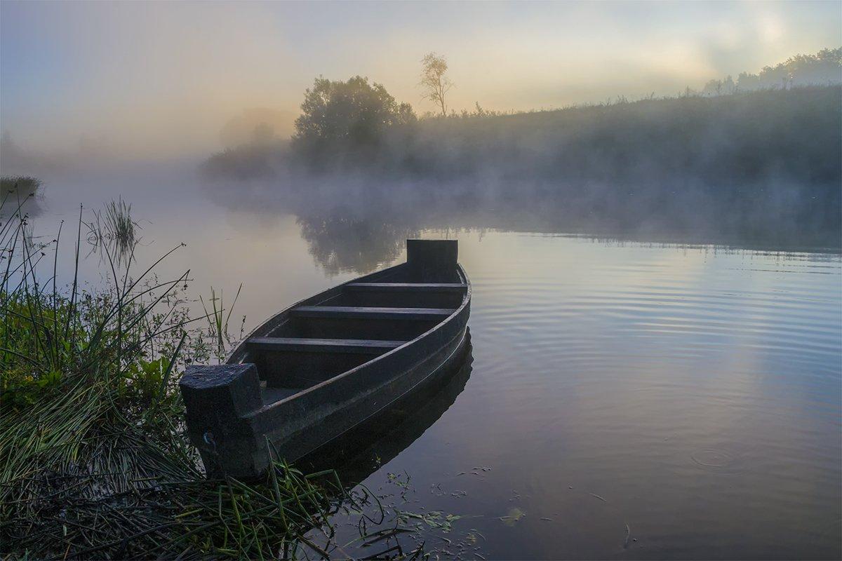 d3100, nikon, август 2015, лето, никон, пейзаж, природа, рассвет, река, россия, смоленская область, туман, угра, Денис Щербак