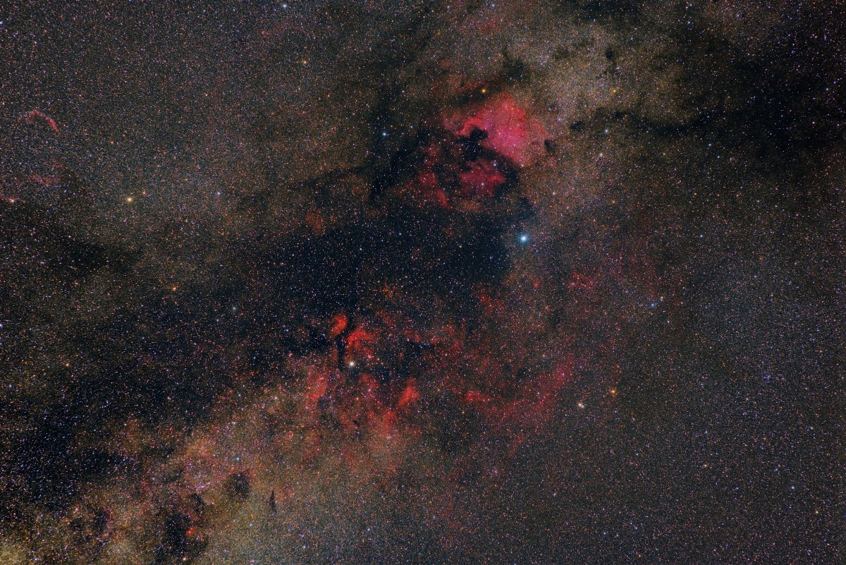 водородные туманности, денеб, млечный путь, подмосковье, созвездие лебедь, Борис Богданов
