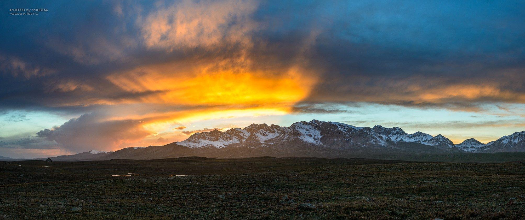 природа, пейзаж, горы, закат, Vasca