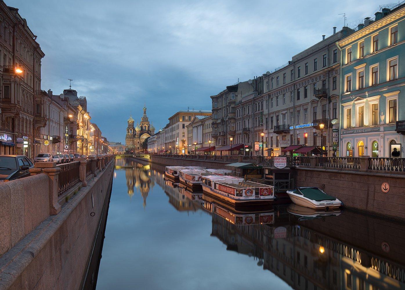 Отражение, Санкт петербург, Утро, Храм, Sergey Louks