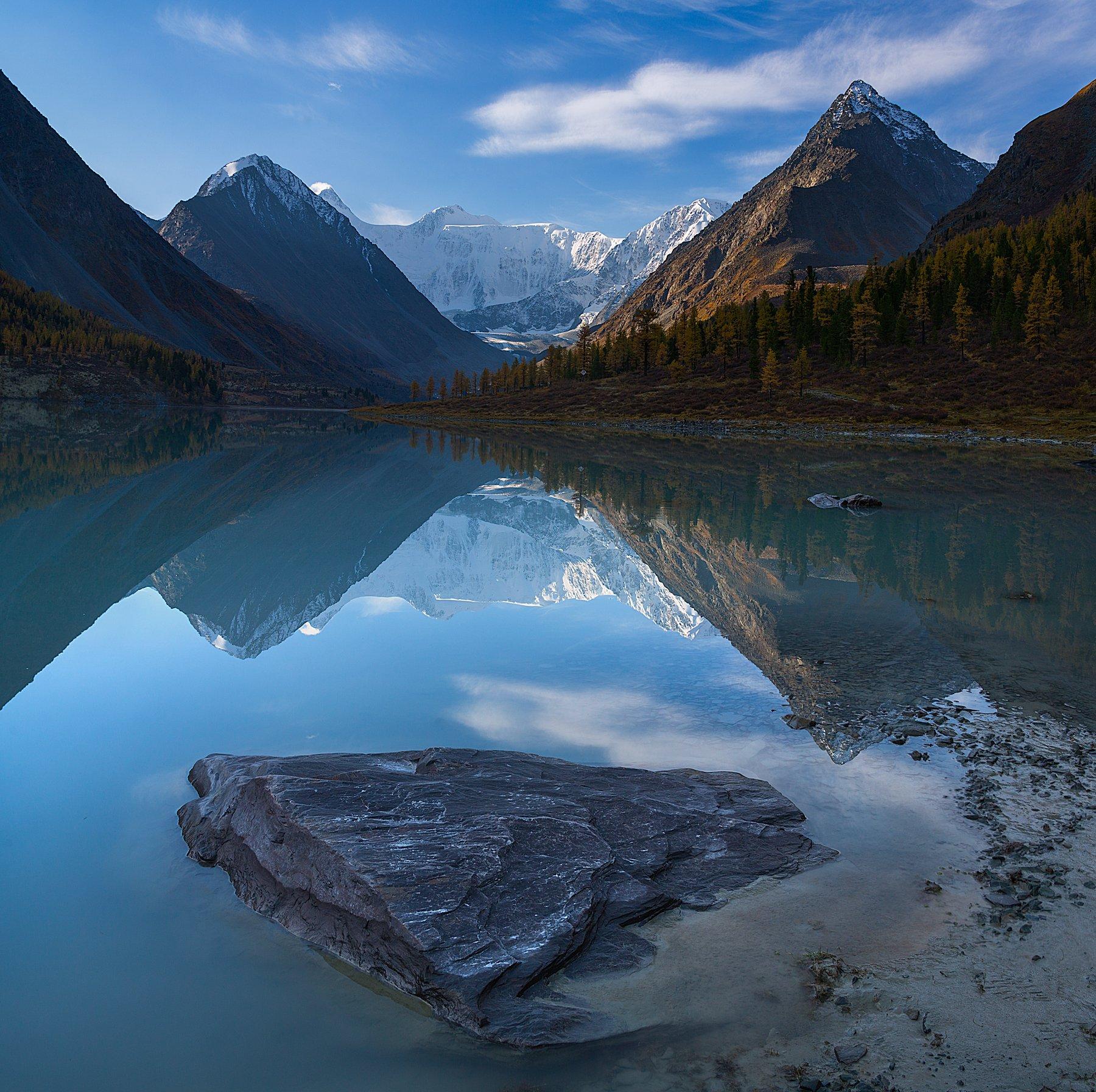 2016, Аккем, Алтай, Горы, Озер, Осень, Отражение, Сентябрь, Pavel  Tkachenko