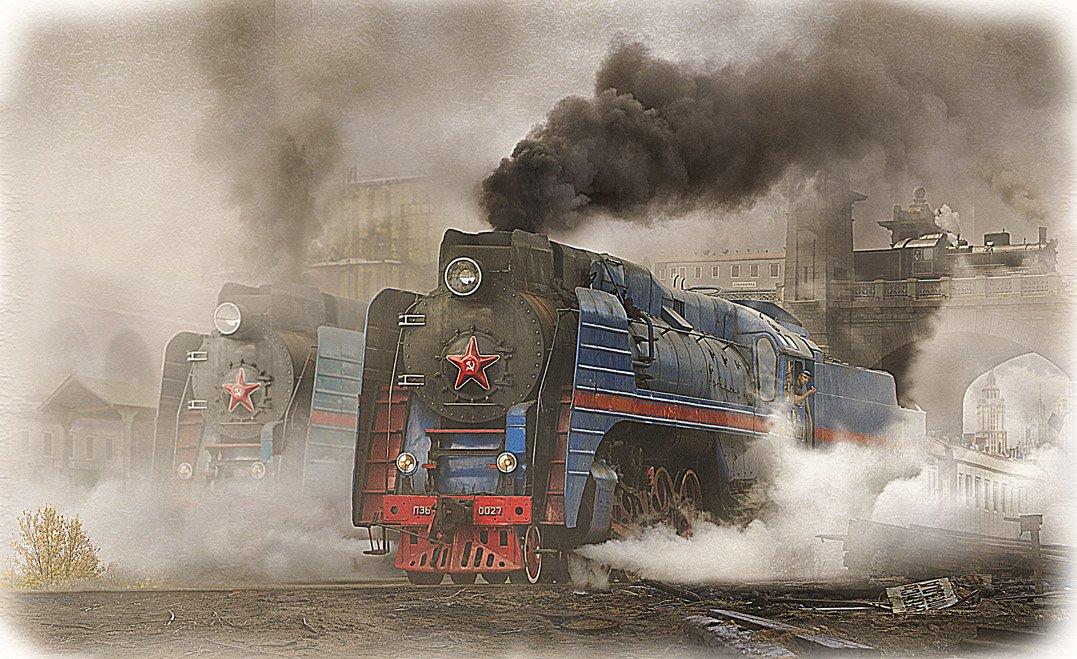 паровоз, серии, п36, 027, советский союз, родина, Boji