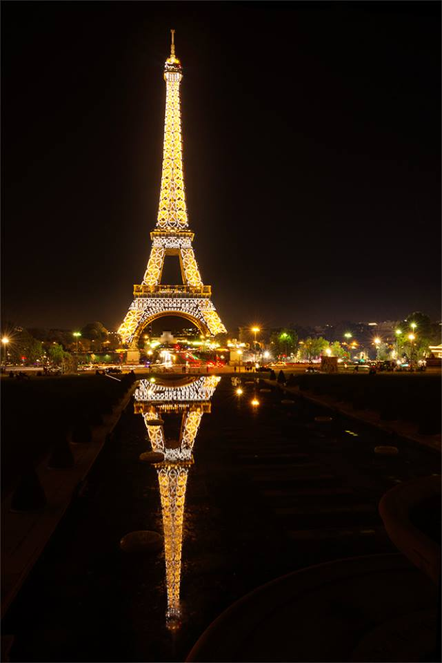 reflection, lights, diamonds, bijou, Paris, Night, Paradise, Paris at night, Eiffel Tower, Таня