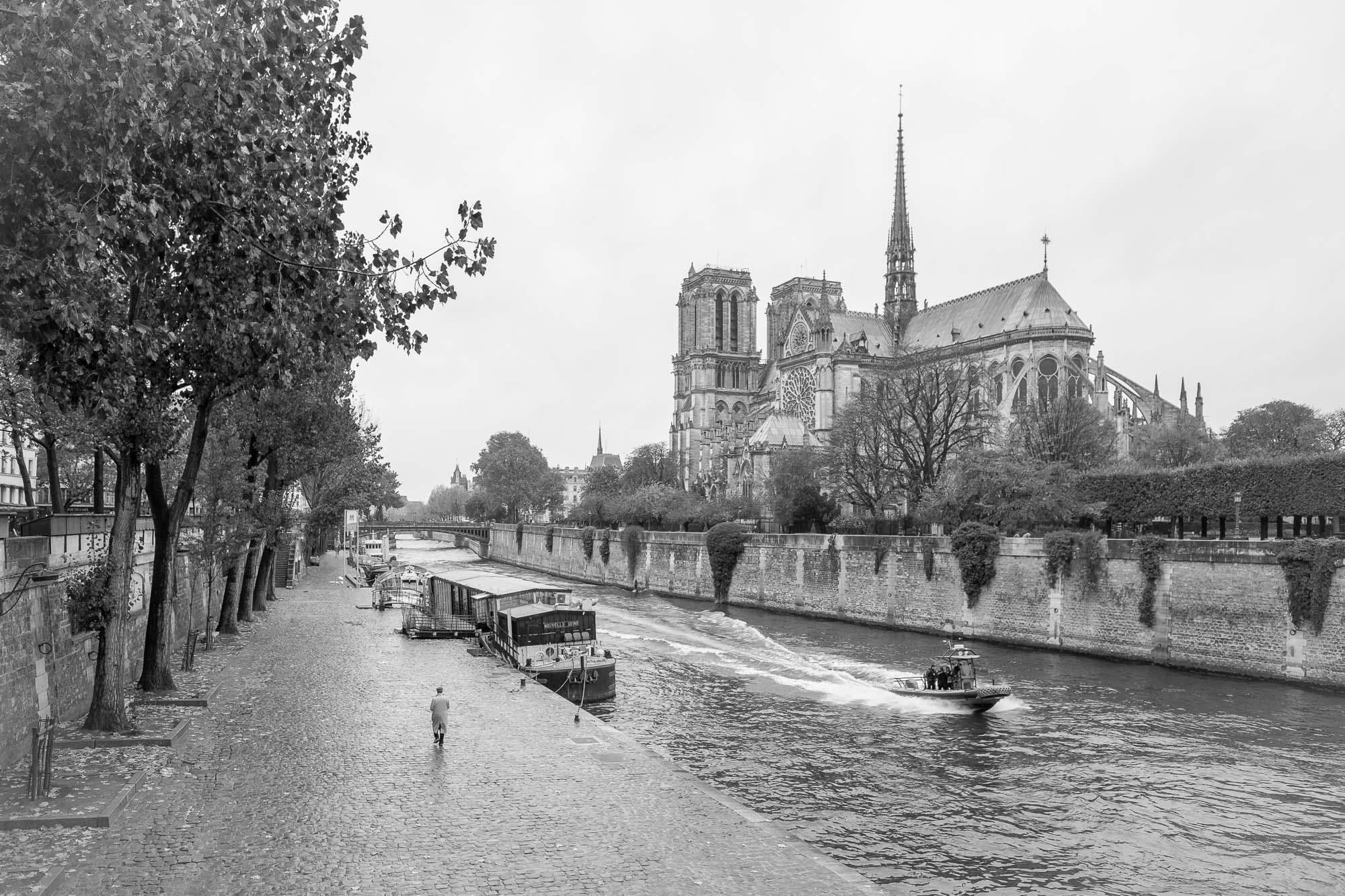 Paris, Notre-Dame, BW, Илья Беленький