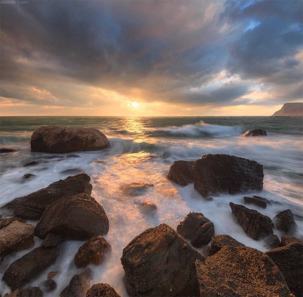 балаклава, шторм, пейзаж, морской пейзаж, Александр Трашин
