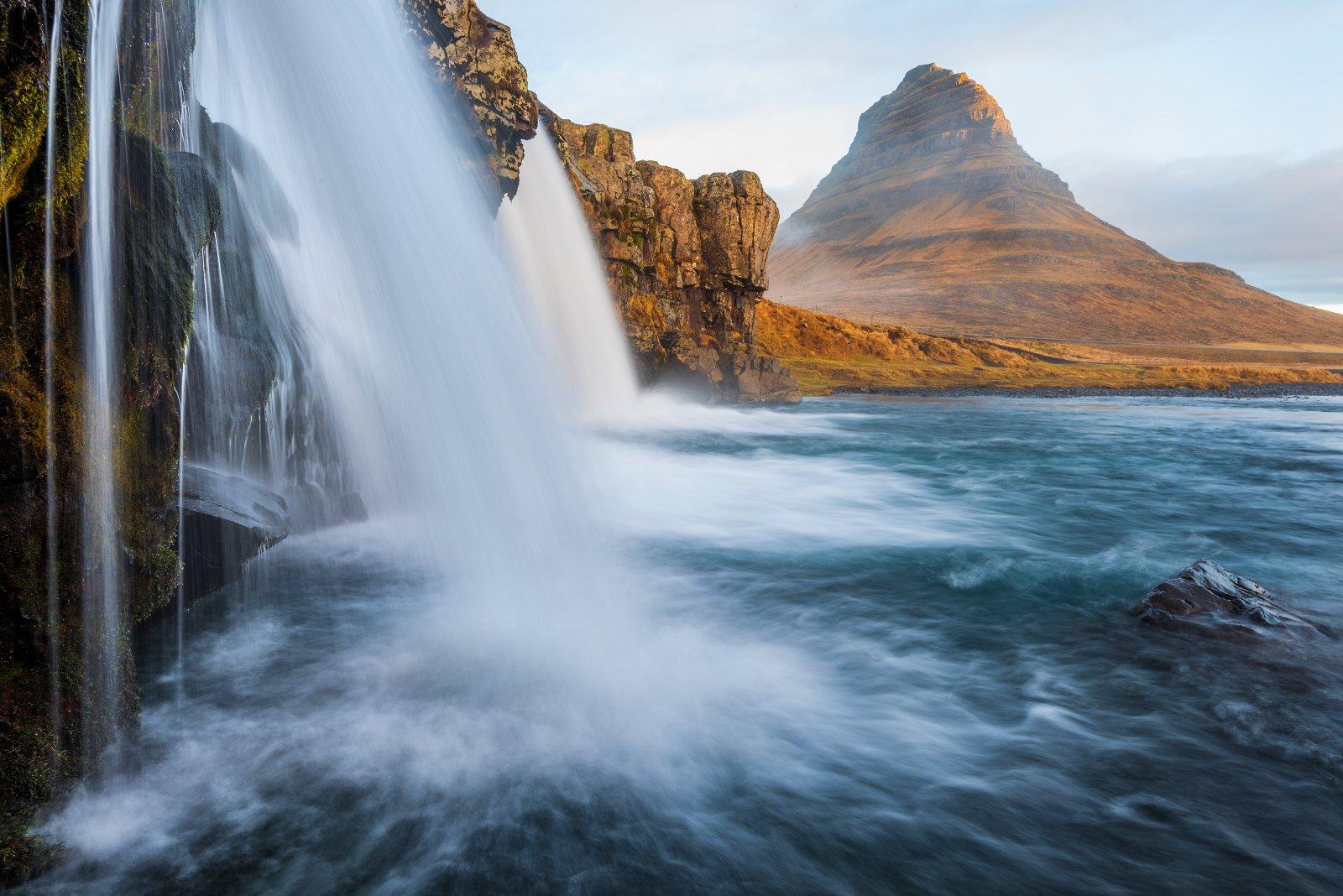 kirkjufellsfoss, исландия, водопад, рассвет, iceland, Вадим Балакин