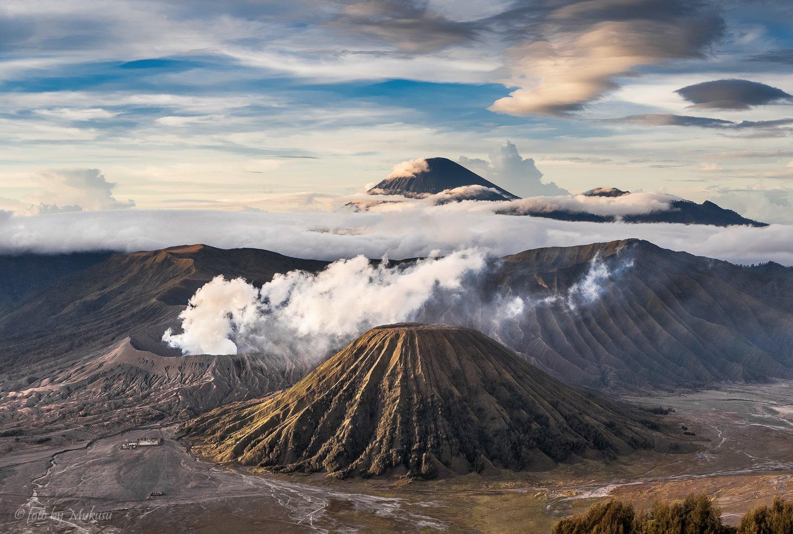 travel, landscape, sunrise, индонезия, ява, вулканы, бромо, пейзаж, рассвет, горы, путешествия, Алексей Самойленко