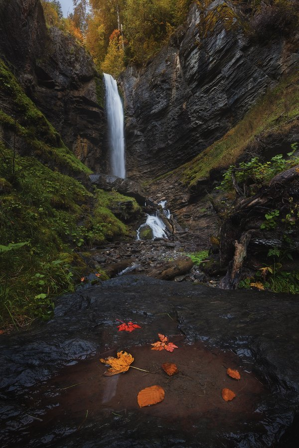 франция, водопад, альпы, france, waterfall, cascade, haute havoie, Alex Yurko