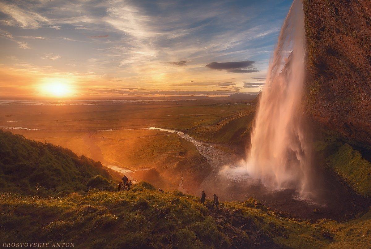 Сельяландсфосс, водопад, Исландия,, Антон Ростовский