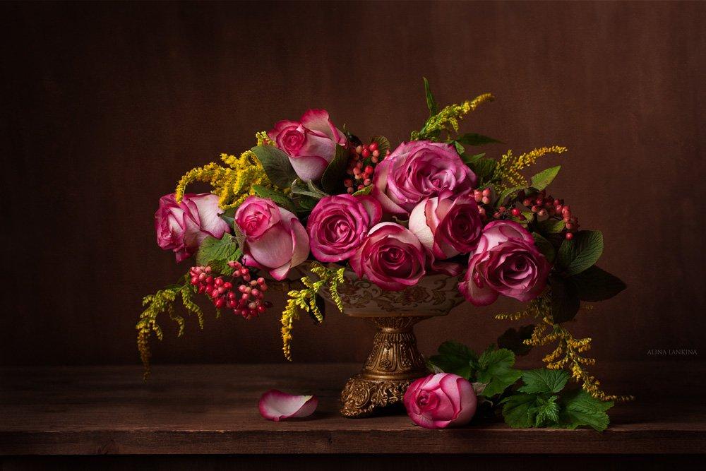 Букет роз. Цветущий сад