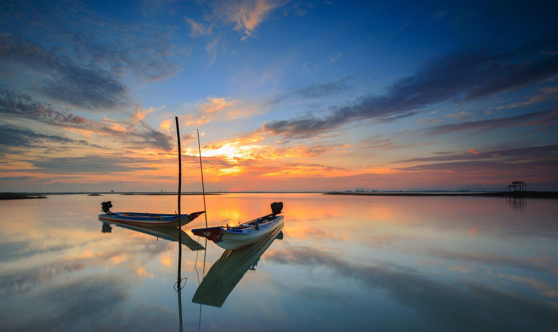viet nam, lake, boat, Tuấn Nguyễn