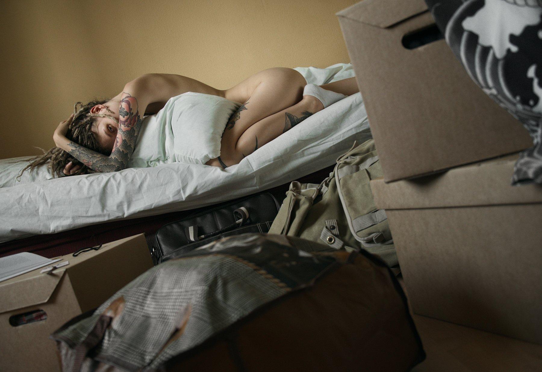 girl, nude, naked, tattoo, home, at home, fujifilmru, Роман Филиппов