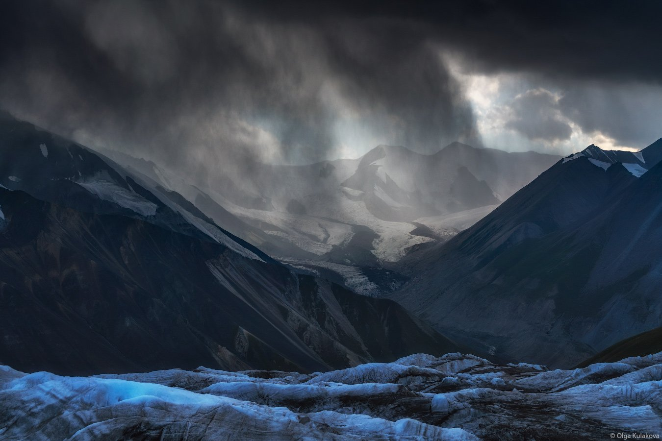 баянкол, ледник, горы, дождь, тянь-шань, Ольга Кулакова
