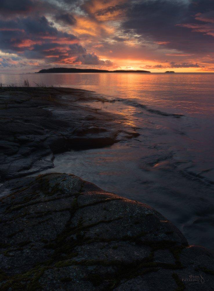 валаам, карелия, острова, ладога, ладожское озеро, рассвет, Ольга Потапова