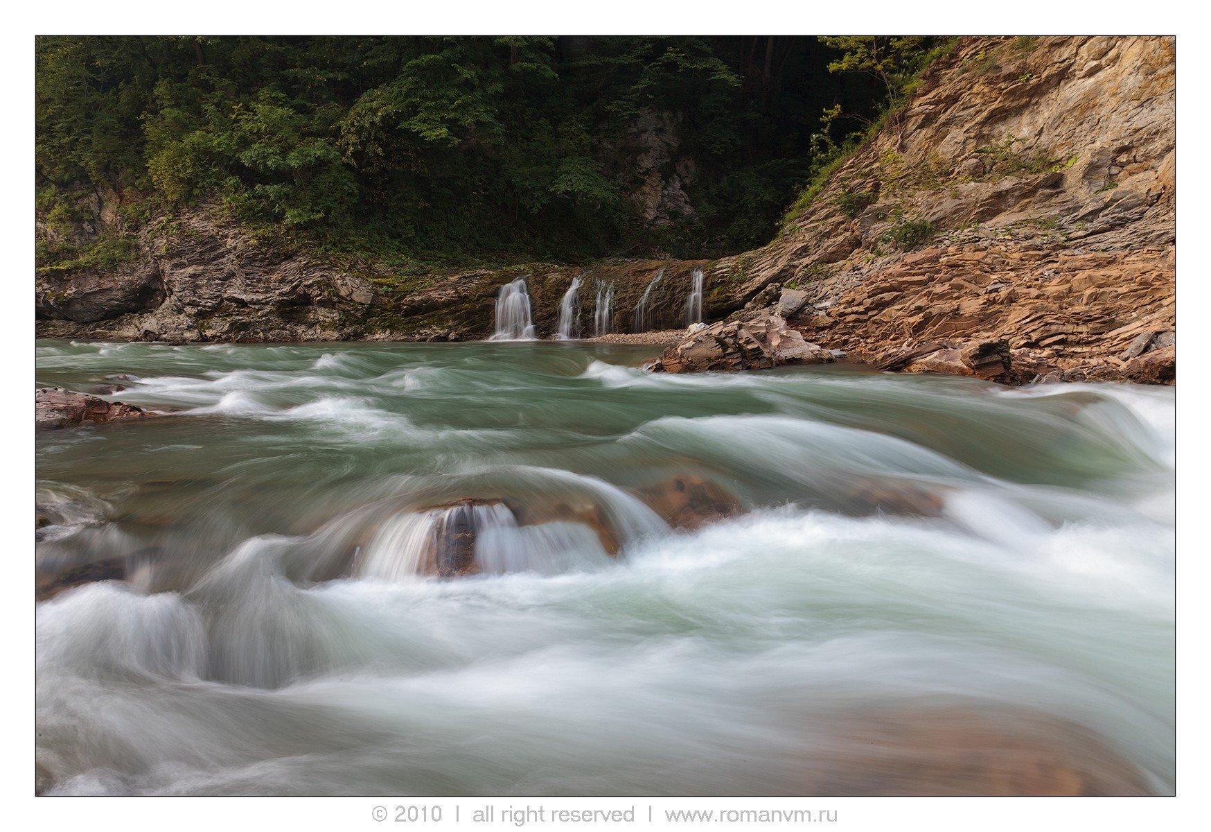 река руфабго, северный кавказ, адыгея, водопад, Роман Мурушкин
