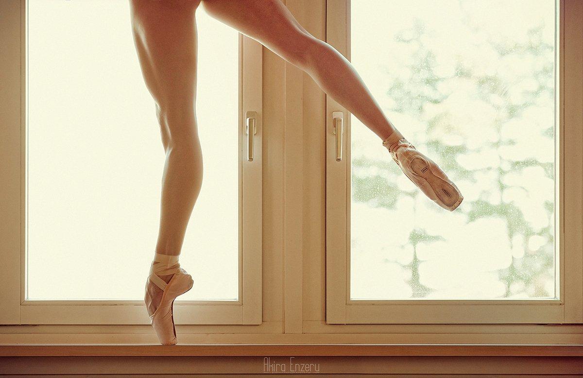 ballerina, dance, dancing, portrait, nude, studio, Akira Enzeru