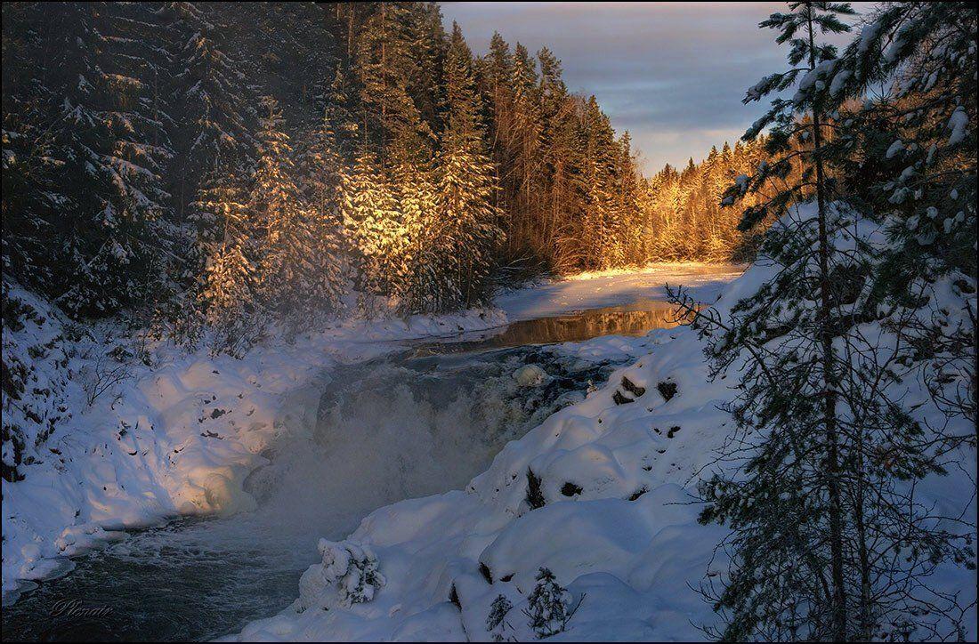кивач, водопад, карелия, пленAIR