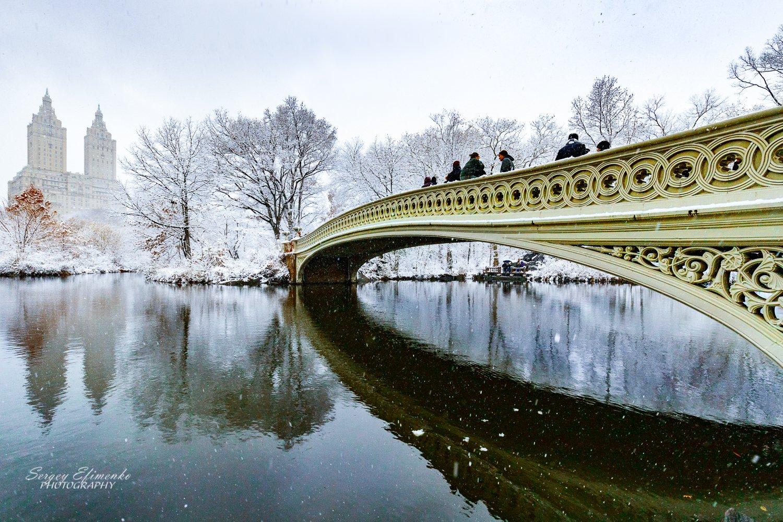 нью-йорк, зима, город, манхэттен, снег, Sergei Efimenko
