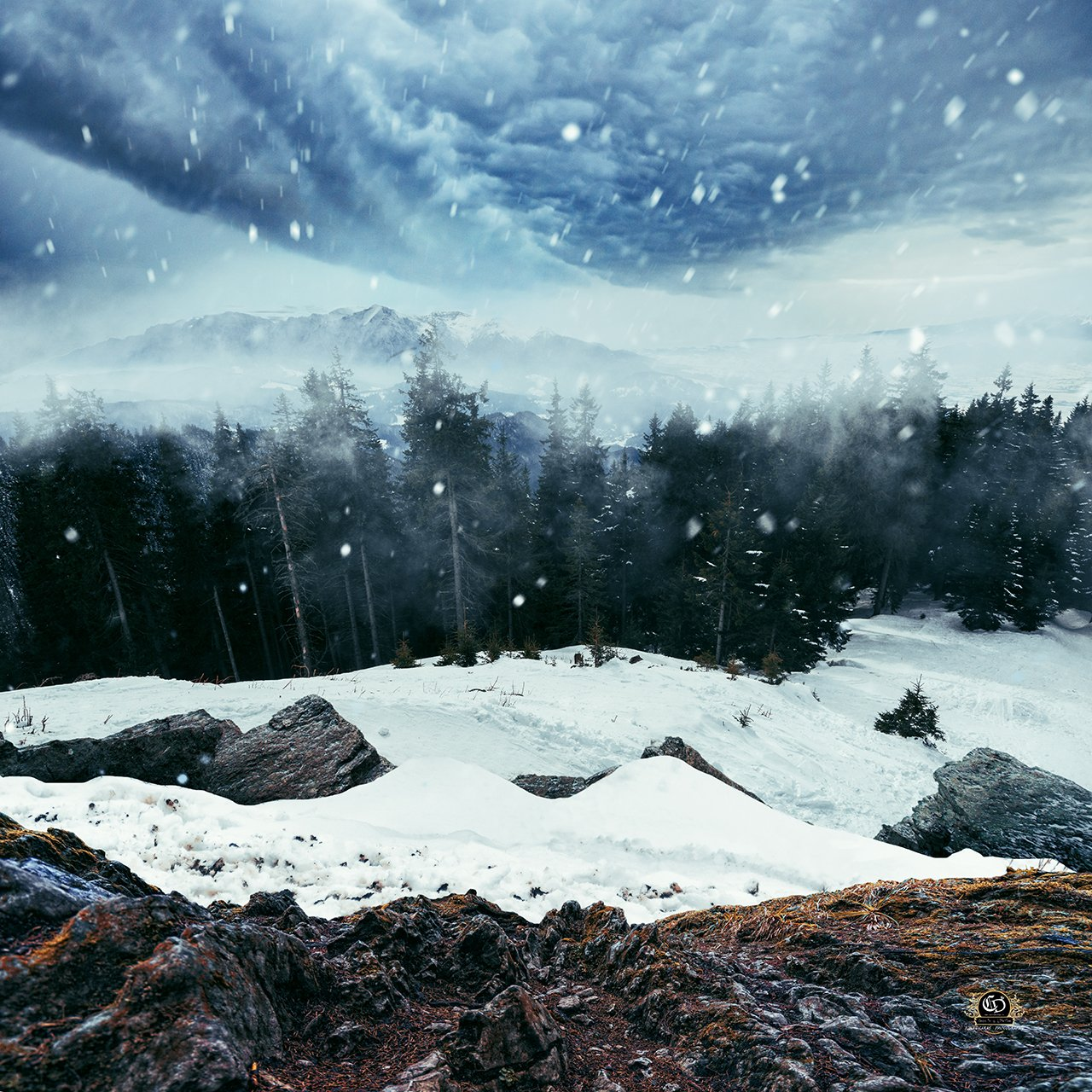 snow, winter, landcape, ps, manipulation, Caras Ionut