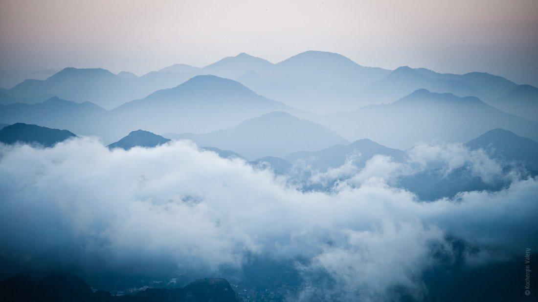 бразилия, южная америка, рио-де-жанейро, горы, закат, облака, вечер, америка, дымка, Kochergin Valery