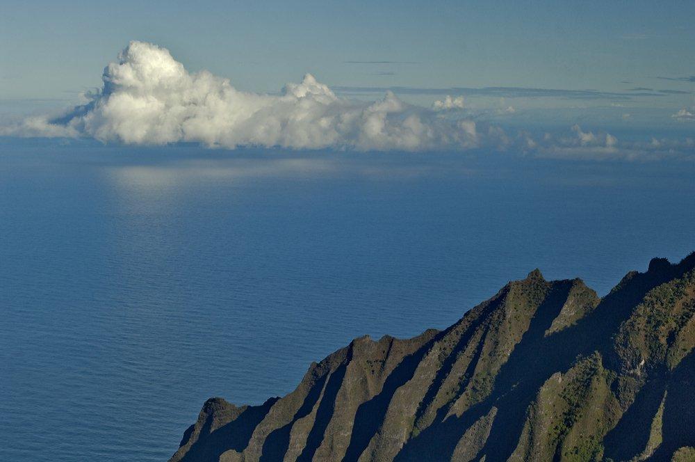 океан, облака, горы, отражение, Андрей Станко