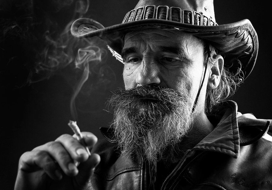 portrait, cowboy, man,, Vasil Vasilev