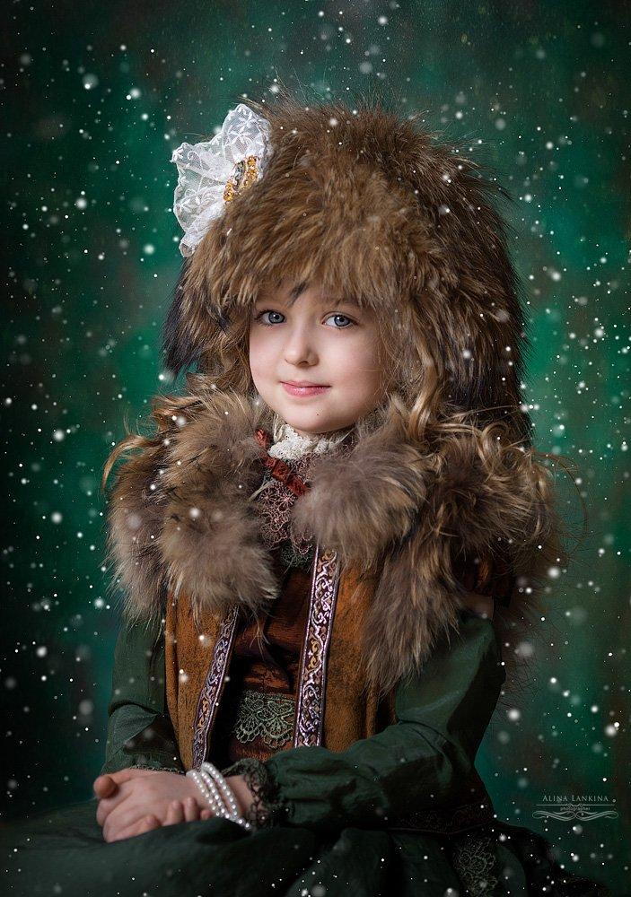 портрет, девочка, семейное фото, алина ланкина, ребенок, зима, арт, художественное фото, Алина Ланкина