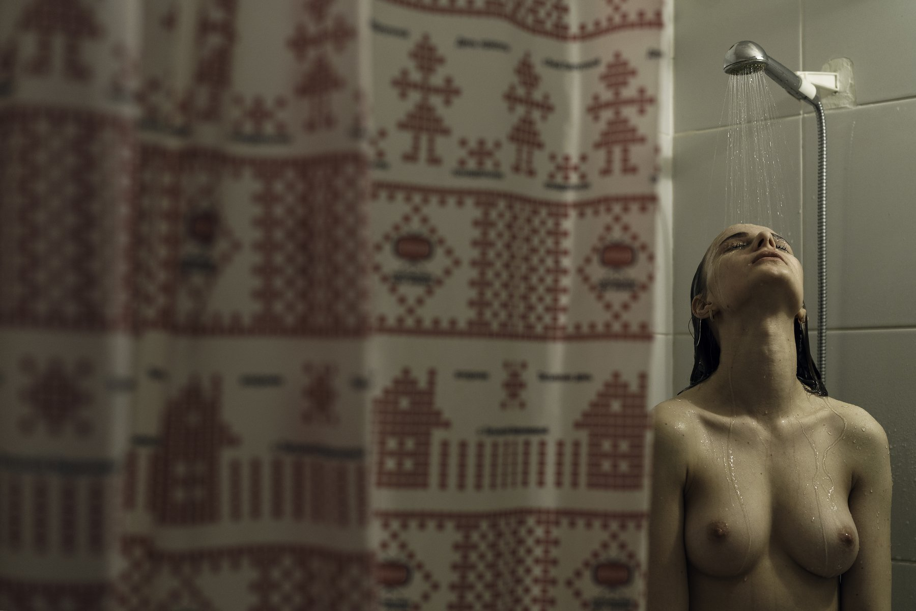 girl, nude, shower, naked, moscow, butovo, alone, at home, Роман Филиппов