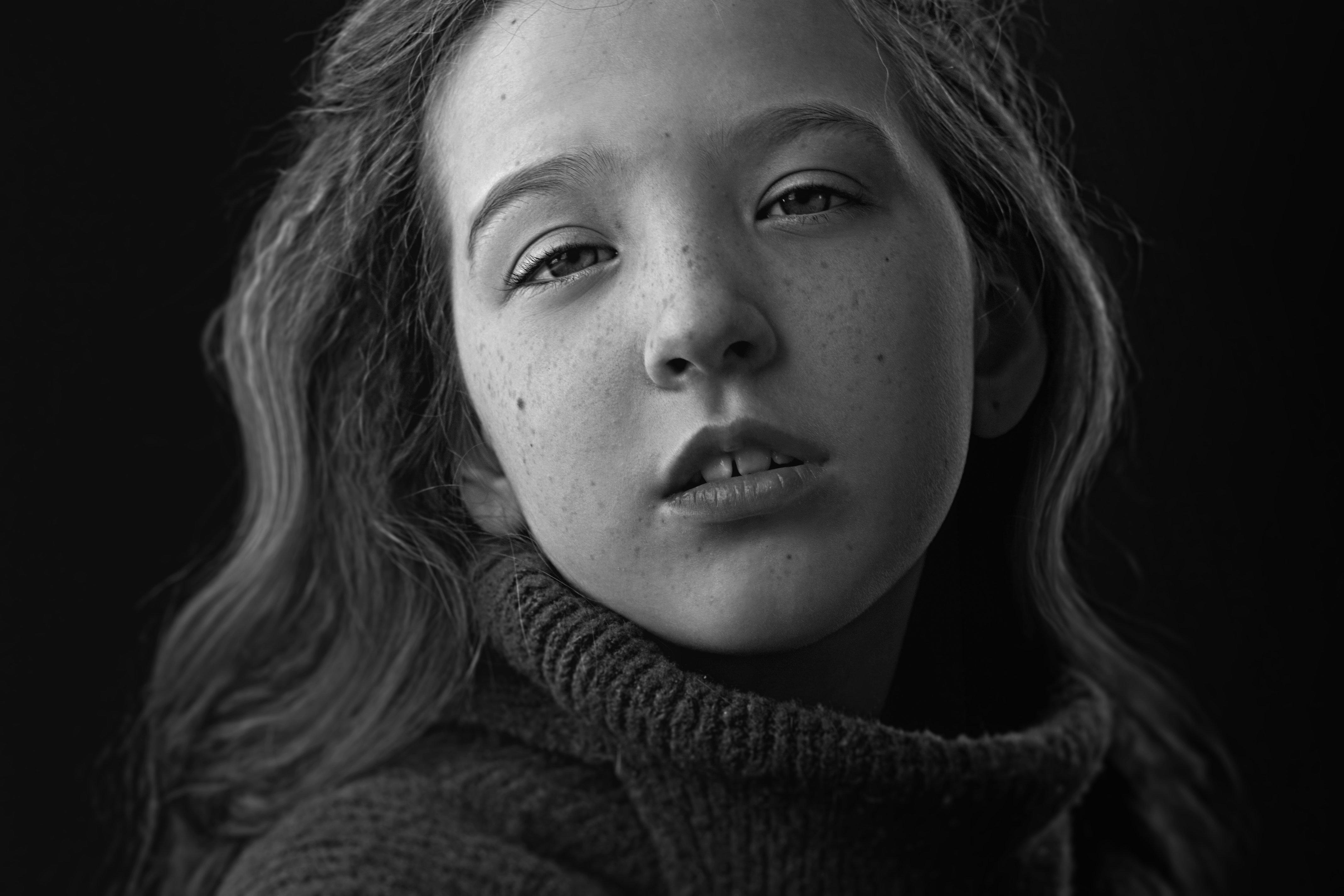 портрет, эмоция, bw, черно-белая, monochrome, дети, лицо, детский портрет, анна шацкая