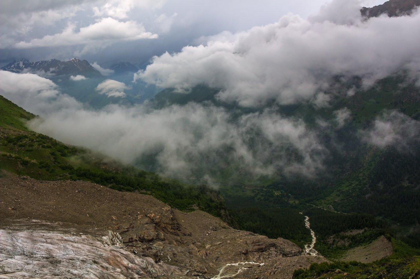 горы, туман, облака, Эстелла