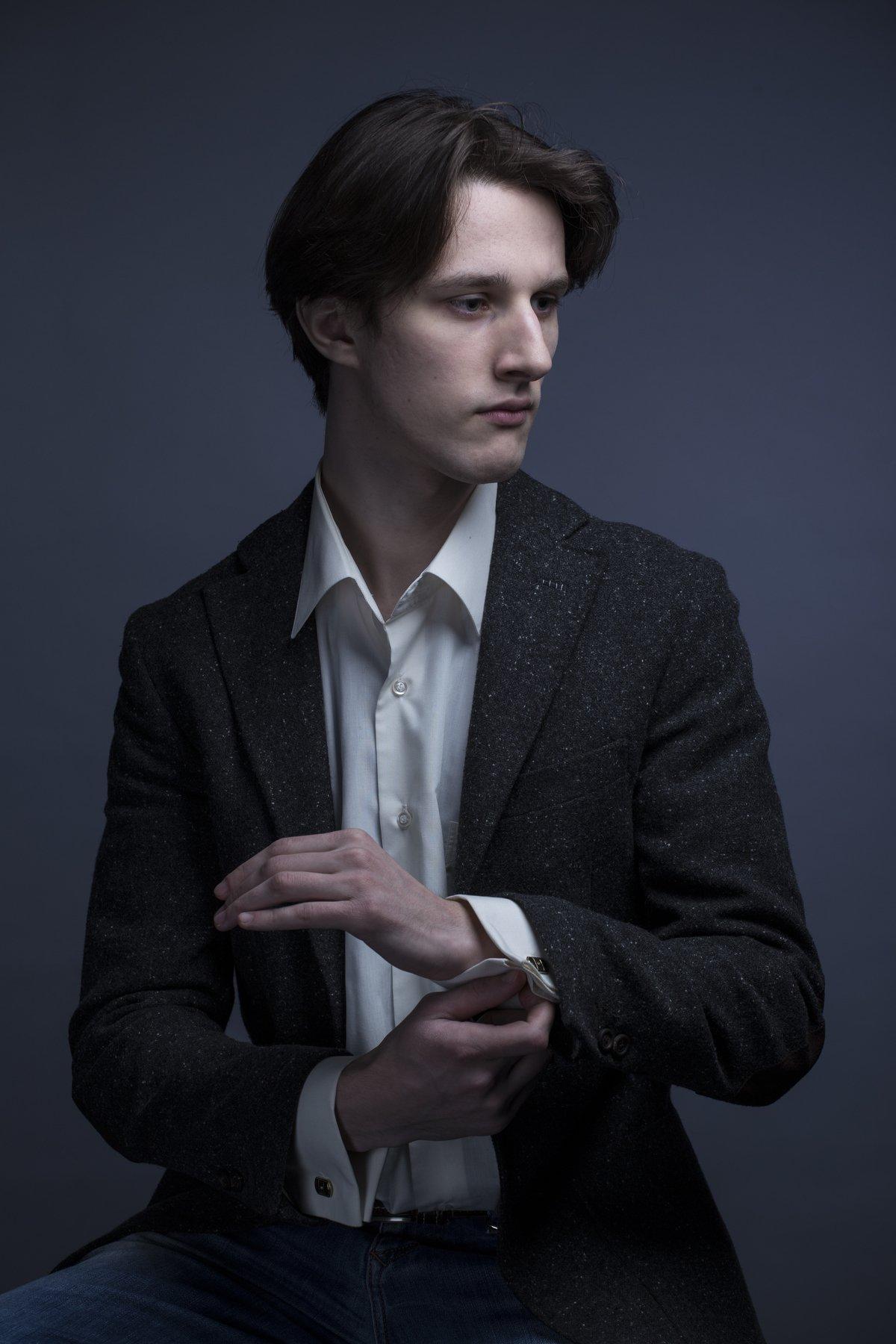 портрет фото студия чб свет мужской портрет, Zonder Alex