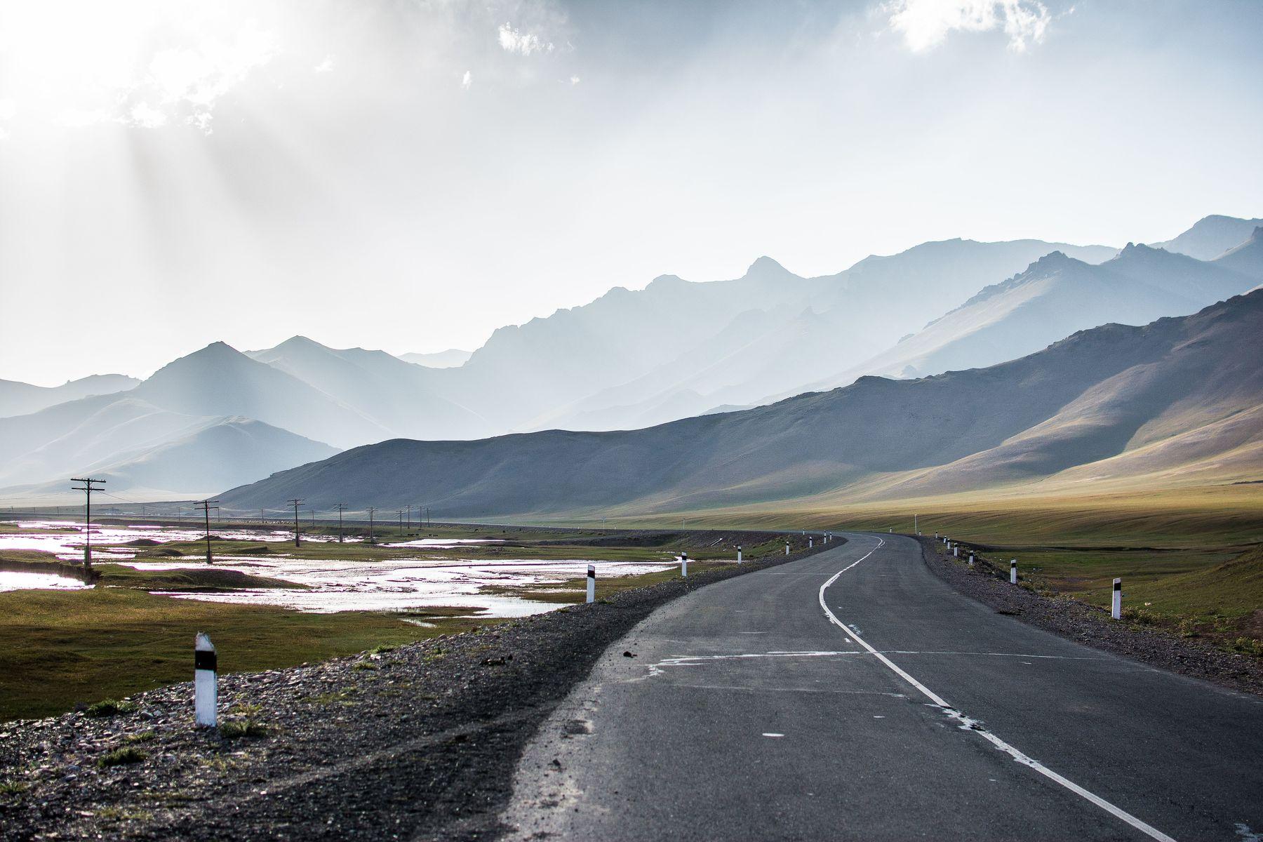 природа, пейзаж, горы, дорога, река, Василий
