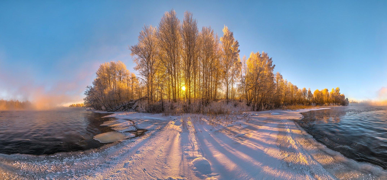 ленинградская область, рассвет, иней, река, лёд, вода, свет, pentax645z, pentaxrussia, pentax, лес, деревья, осина, солнце, тени,, Лашков Фёдор