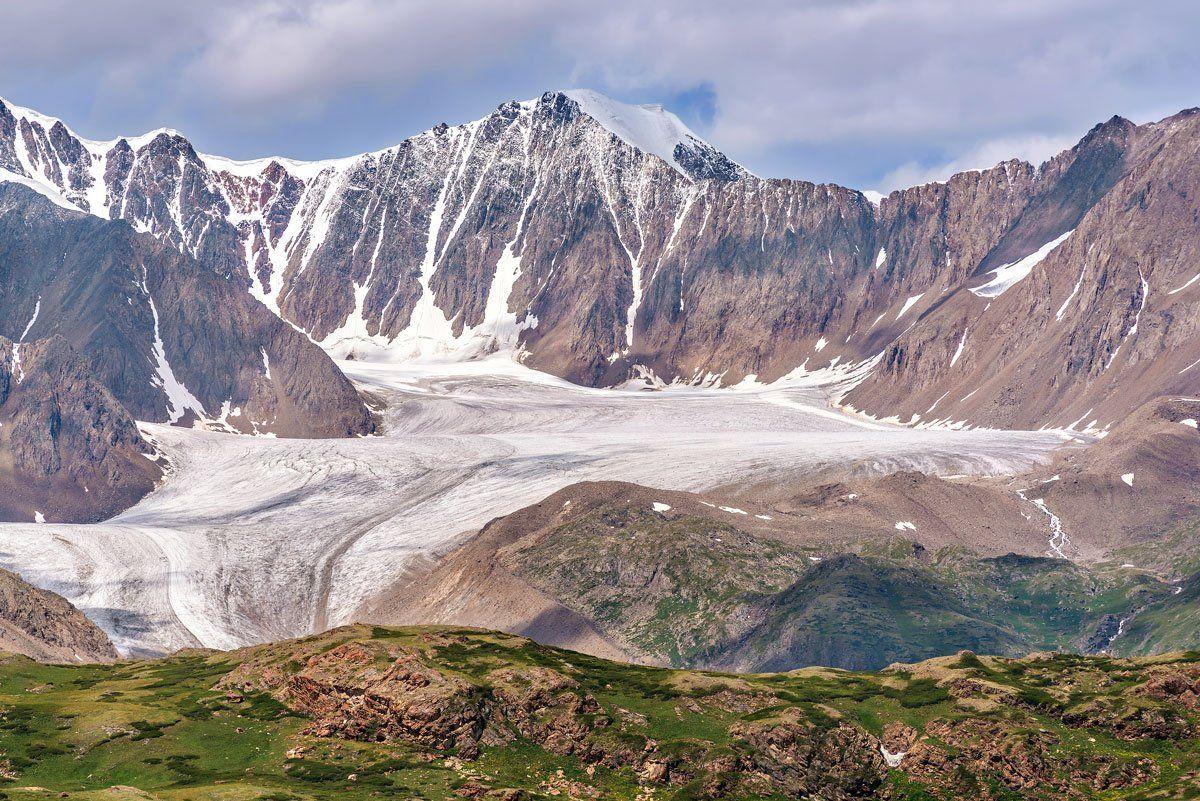 ледник, лето, горы, алтай, джело, glacier, summer, mountains, altai, Iri_sha