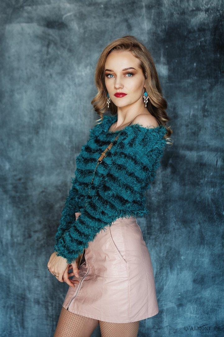 girl, model, fashion model, winter, studio, natural light, Александр