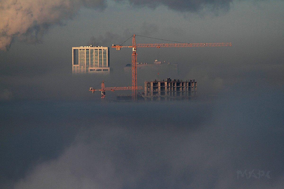 пейзаж туман краны, Шангареев Марс