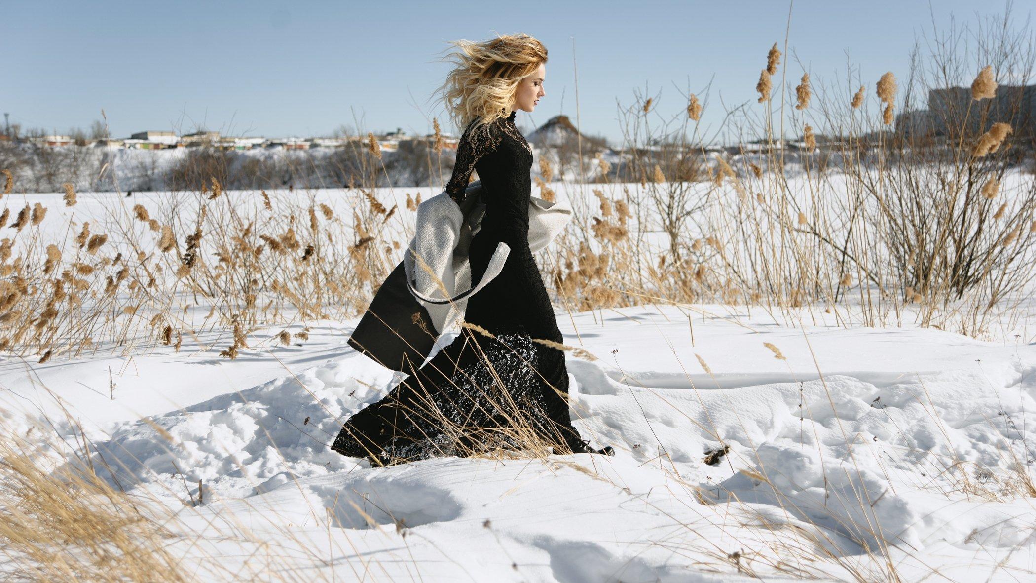 девушка, юность, молодость, зима, снег, Антон Маланин