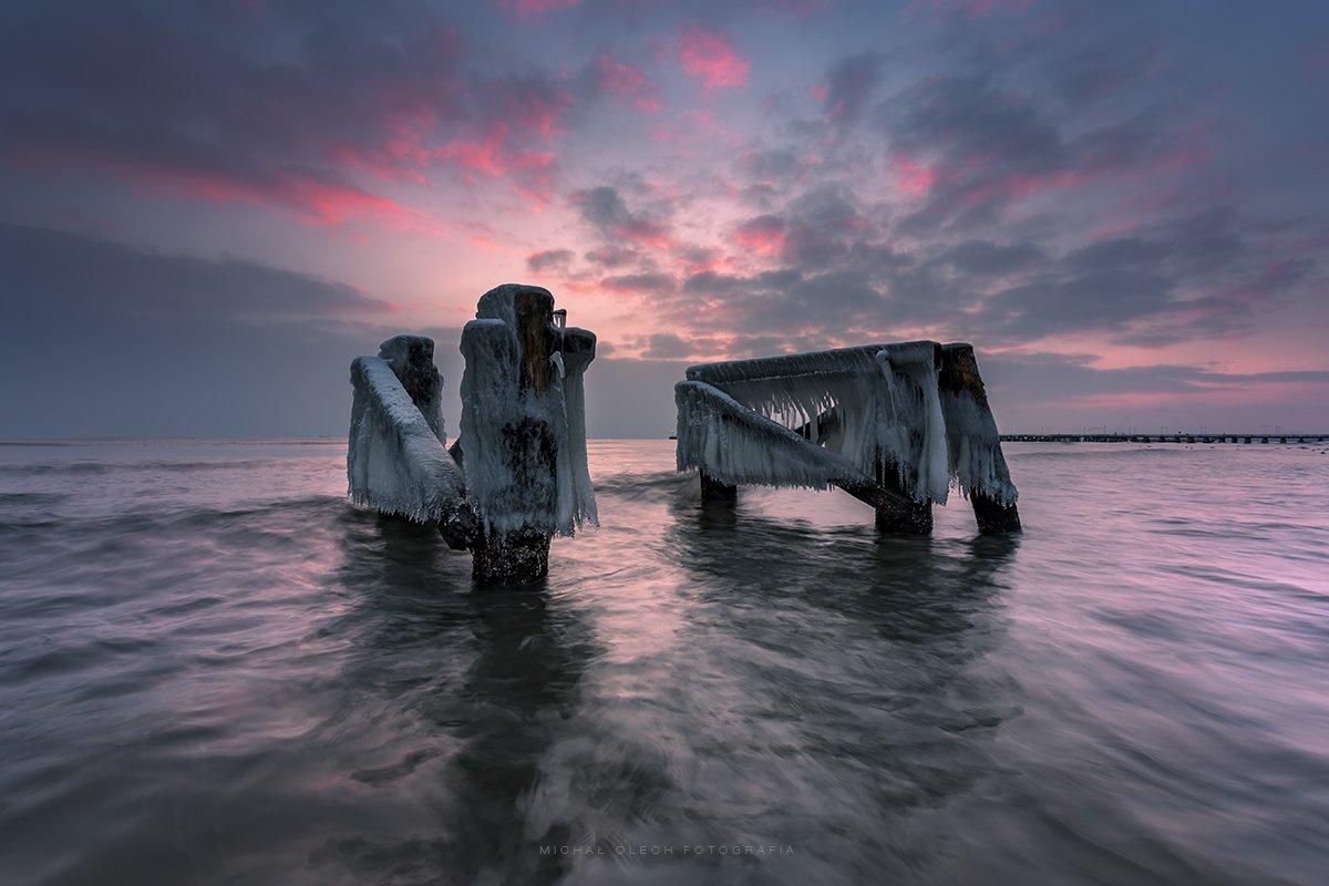 baltic sea, poland, winter, балтійское море, польша, Michal Olech