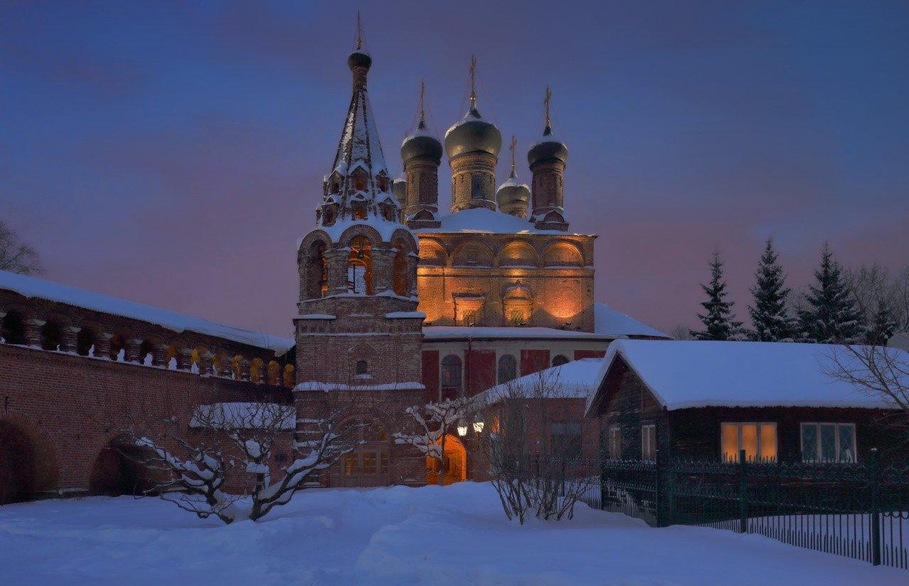 крутицкое подворье, москва, вечер, зима, Виктор Климкин