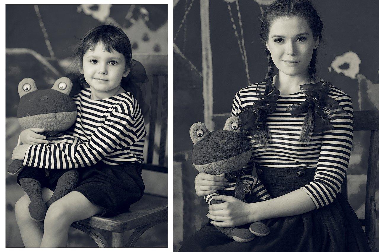 детство, девушка, взросление, старая фотография, Комарова Дарья